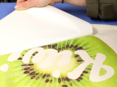 Forever Five Star Universal Paper Print of a Kiwi being peeled