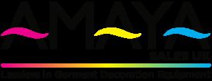 Amaya Sales UK Leaders in Garment Decoration Equipment Logo on transparent background