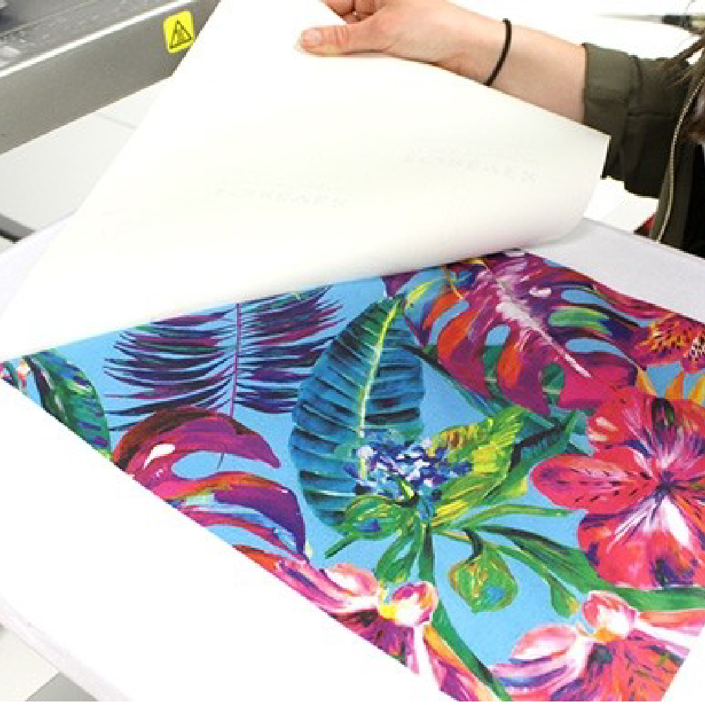 Palm print design being transferred using Forever Transfers Classic & Universal A4 Transfer Paper