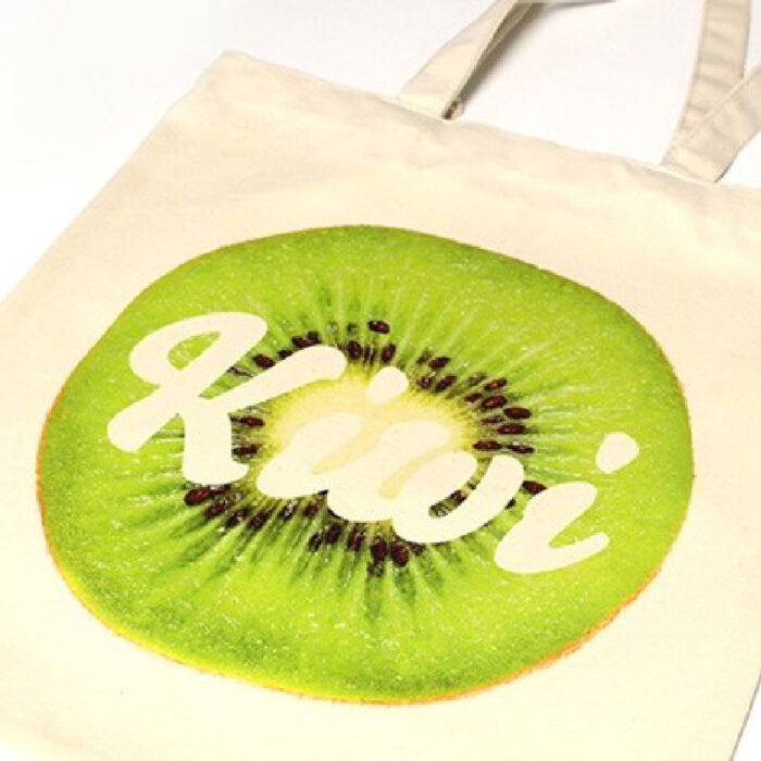 Tote bag with kiwi design made with Five Star Universal Transfer Paper
