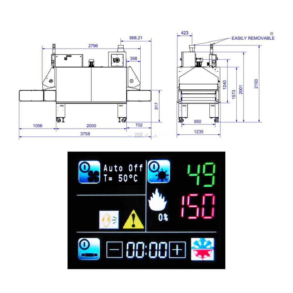 Chiossi e Cavazzuti Ace 950 Textile Dryer Diagram