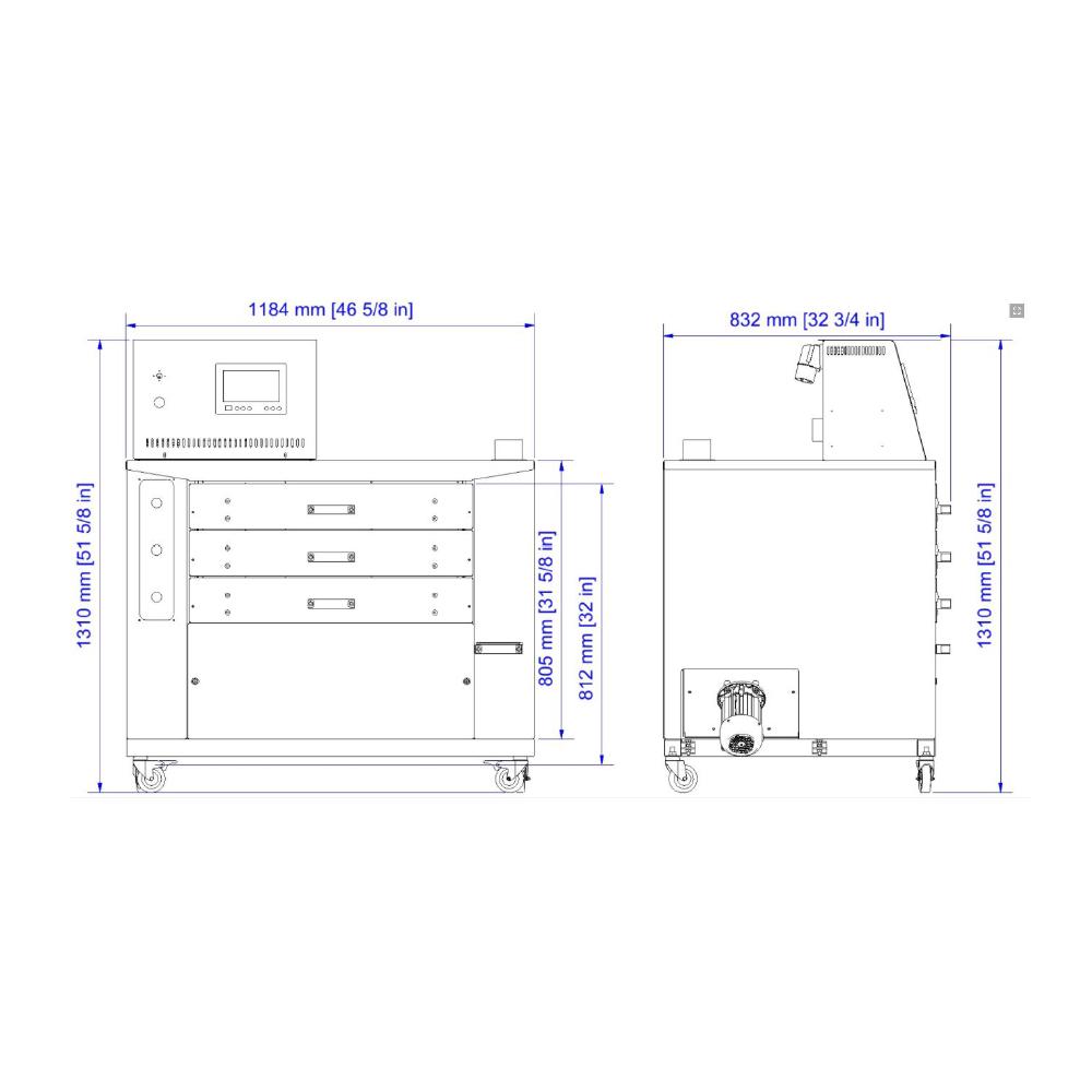 Chiossi e Cavazzuti Dido Shop Textile Dryer Diagram
