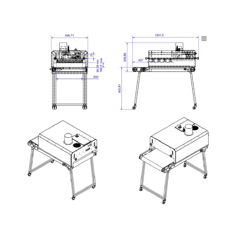 Chiossi e Cavazzuti Micro Textile Dryer Diagram
