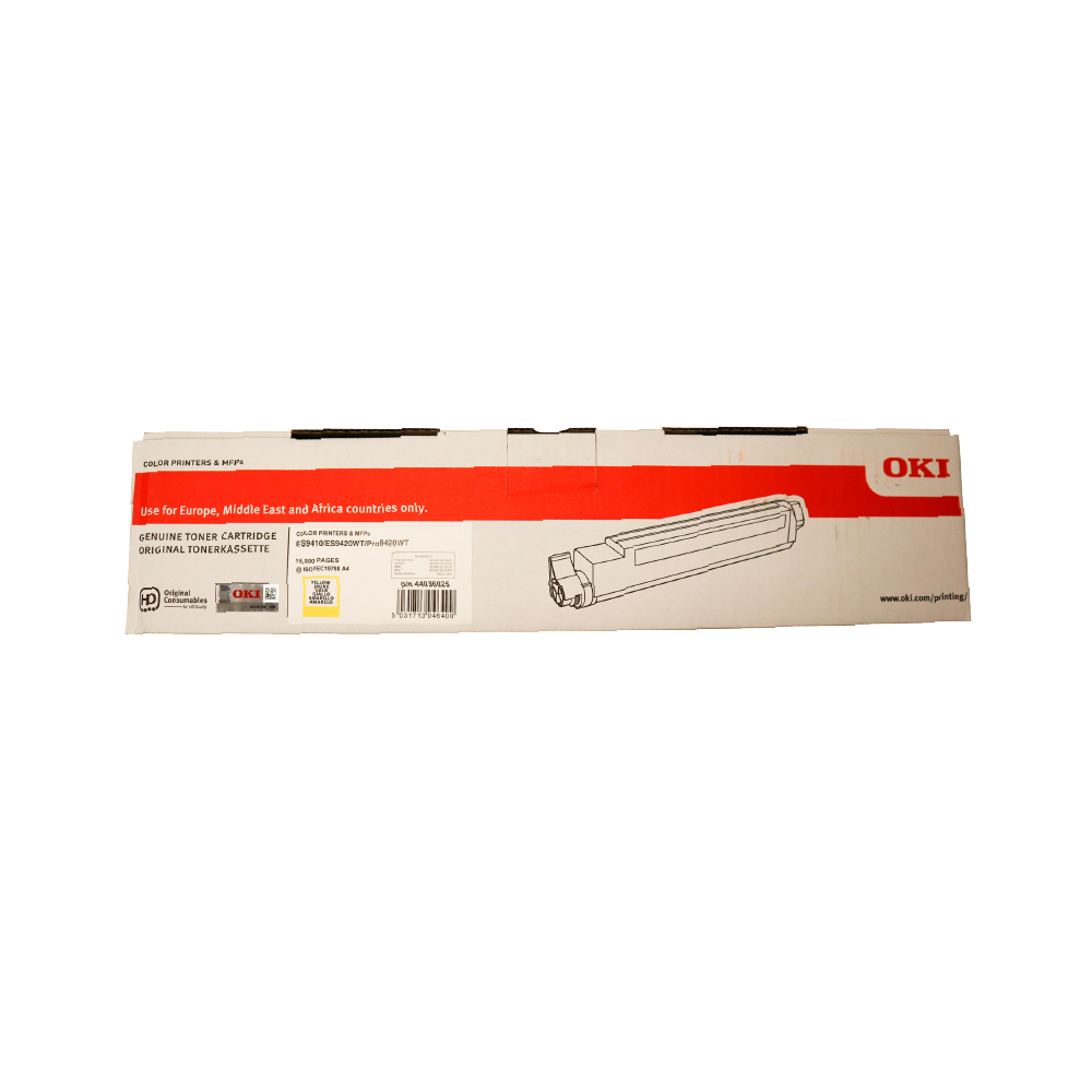 OKI PRO9420WT ES94X0 A3 Printer Yellow Toner