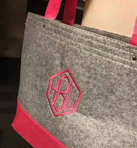 Embroidered Monogram Bag