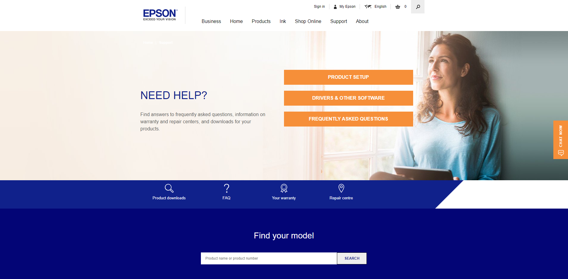 Epson Support - Find Printer Model