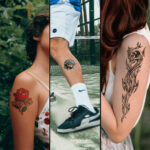 3 split grid image of applications with Forever A4 Laser Tattoo Paper with B Paper