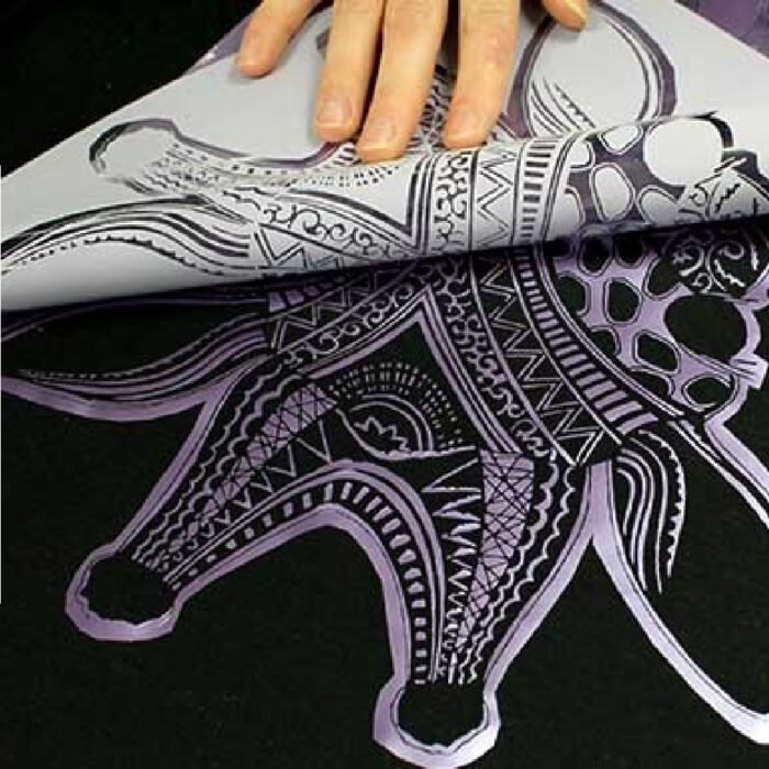 Giraffe Print being transferred using Forever Flex Soft (No-Cut) Metallic Paper