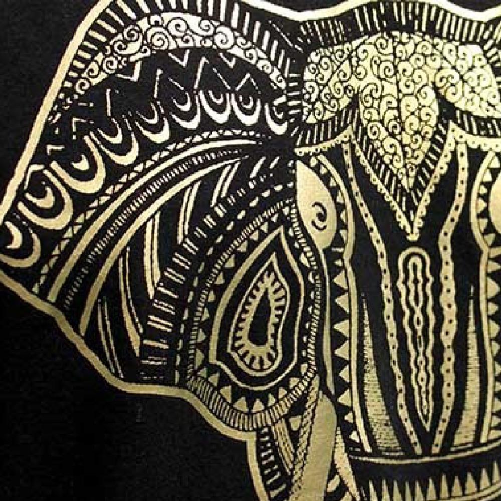 Elephant print printed with Forever Flex Soft (No Cut) Metallic Paper