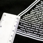 Ruler on shirt printed with Forever Flex Soft No Cut Paper in Matt White