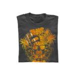Skull summer design on grey t-shirt using Cubism Gold Forever Hot Stamping Foils