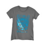 Grey T-shirt with printed design using Blue Forever Hot Stamping Foil