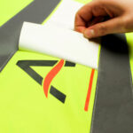 High Vis Jacket with Corporate branding being transferred using Forever Laser Transparent Paper