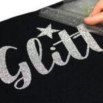 Silver glitter transfer using Sef Glitterflex Paper