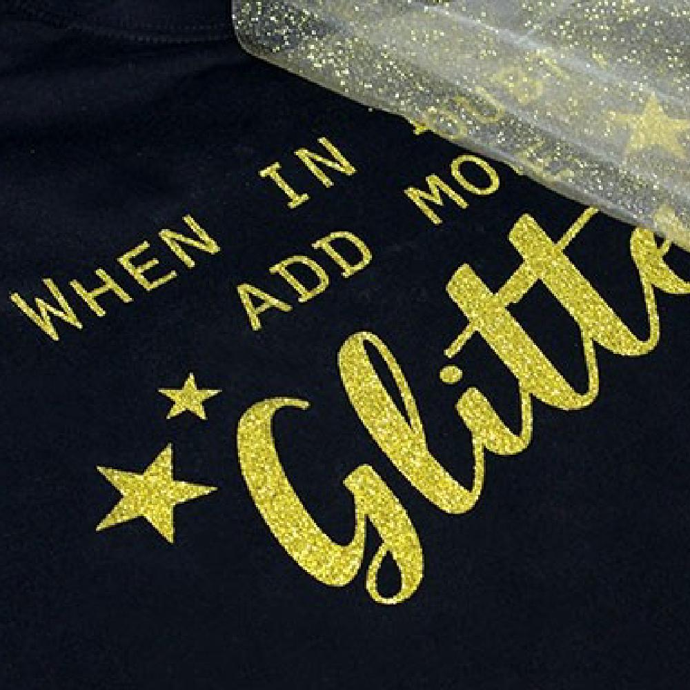 Gold glitter transfer using Sef Glitterflex Paper