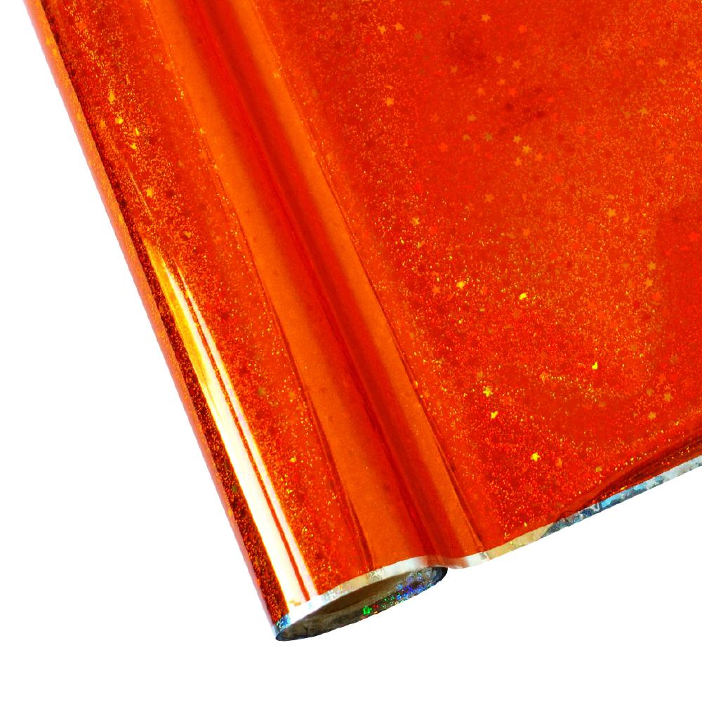 Forever Hot Stamping Foils Pattern Glitter Orange