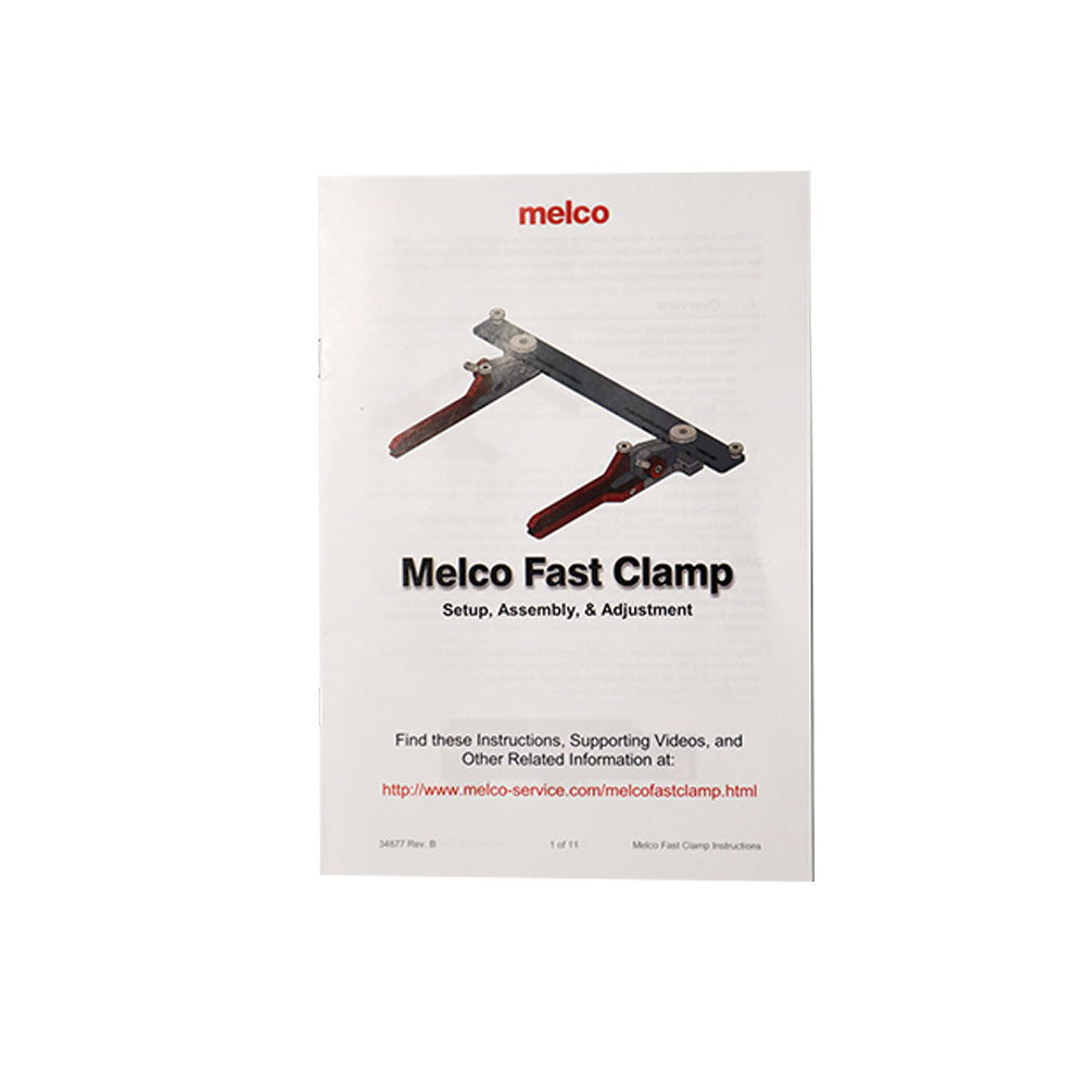 Melco Embroidery Machines Fast Clamp Booklet