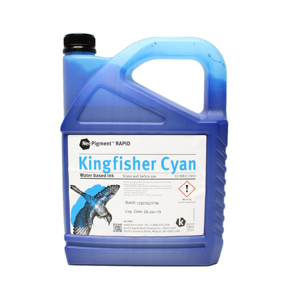 Kornit Neopigment Rapid Kingfisher Cyan Ink 4Lt