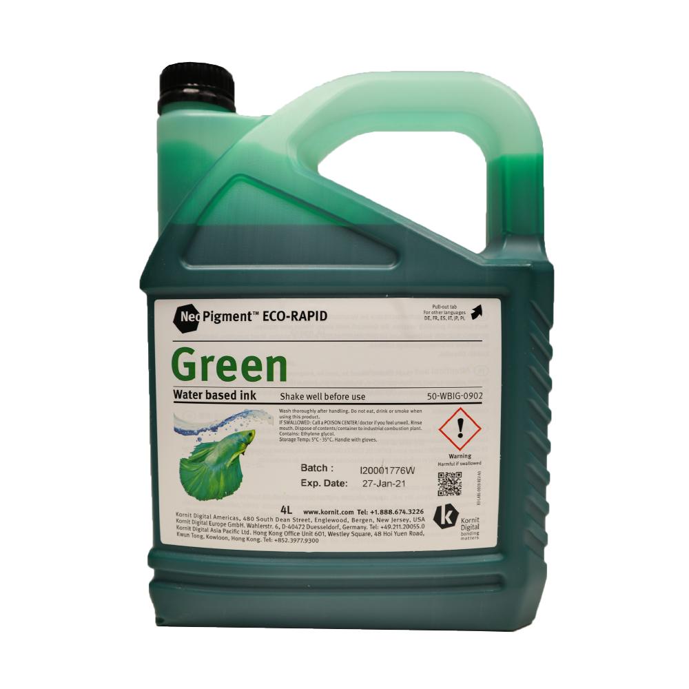 Kornit Neopigment Eco Rapid Green Ink 4Lt