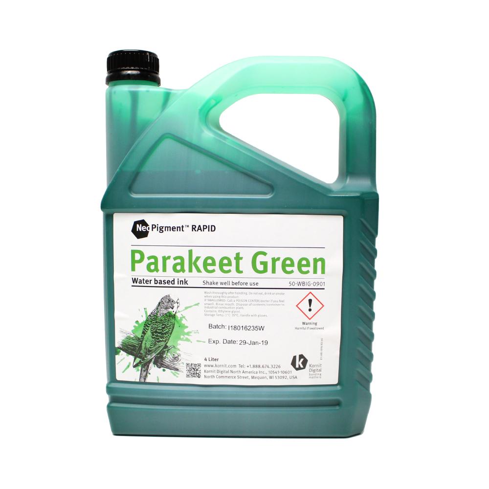 Kornit Neopigment Rapid Parakeet Green Ink 4Lt
