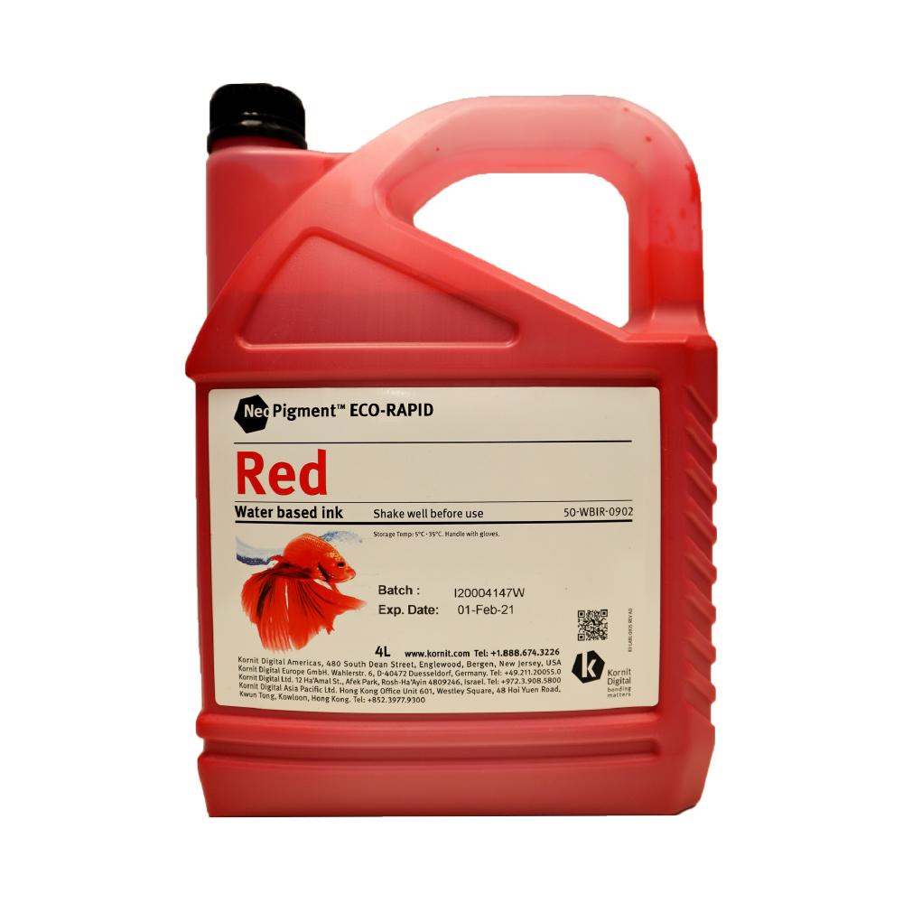 Kornit Neopigment Eco Rapid Red Ink 4Lt