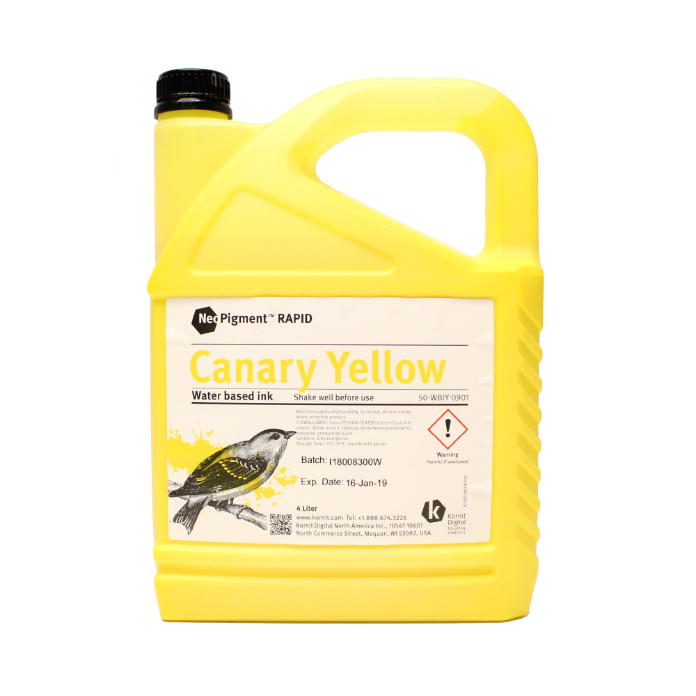 Kornit Neopigment Rapid Canary Yellow Ink 4Lt