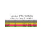 Sef Maxxflex Neon and Metallic Colour Chart