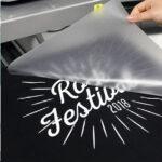 White Festival design being transferred using Sef Maxxflex Night Club Vinyl