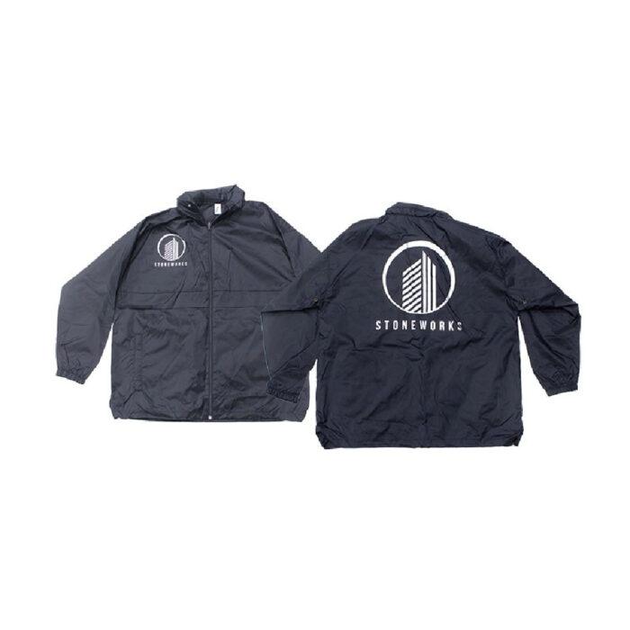 Black Jacket with silver print made with Sef Maxxflex Nylon Vinyl