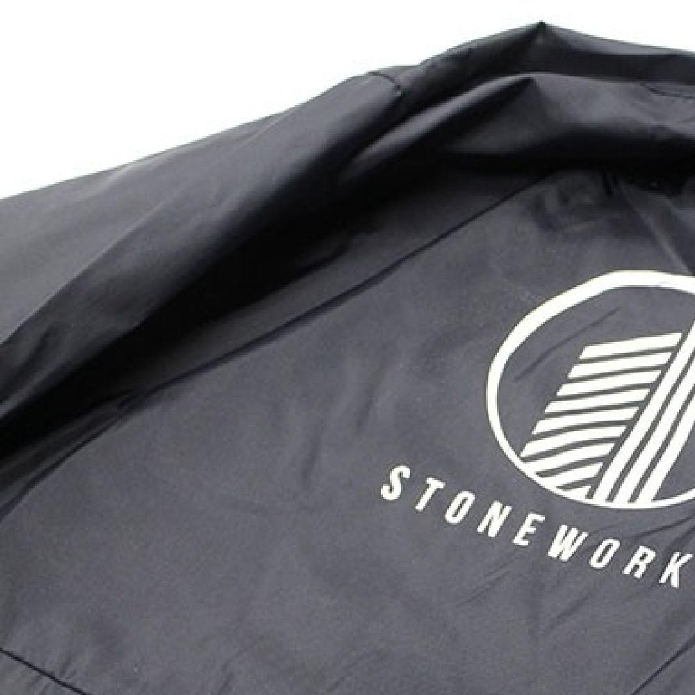 Black Jacket with graphic print made with Sef Maxxflex Nylon Vinyl