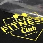 Fitness club logo being transferred using Maxxflex Subliblock II Vinyl