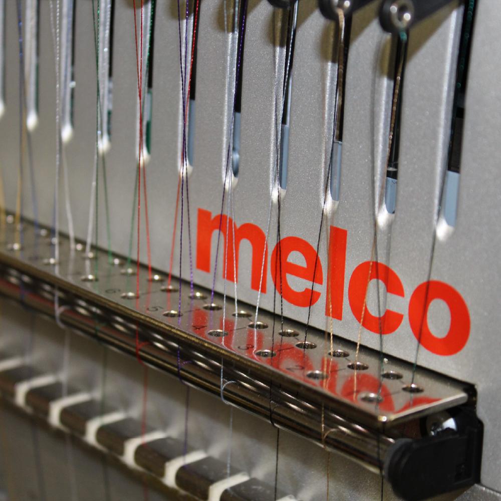 Melco EMT16X Machine Close up of threading