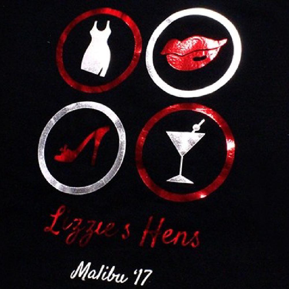 Black Shirt with logo using Sef Metalflex Vinyl