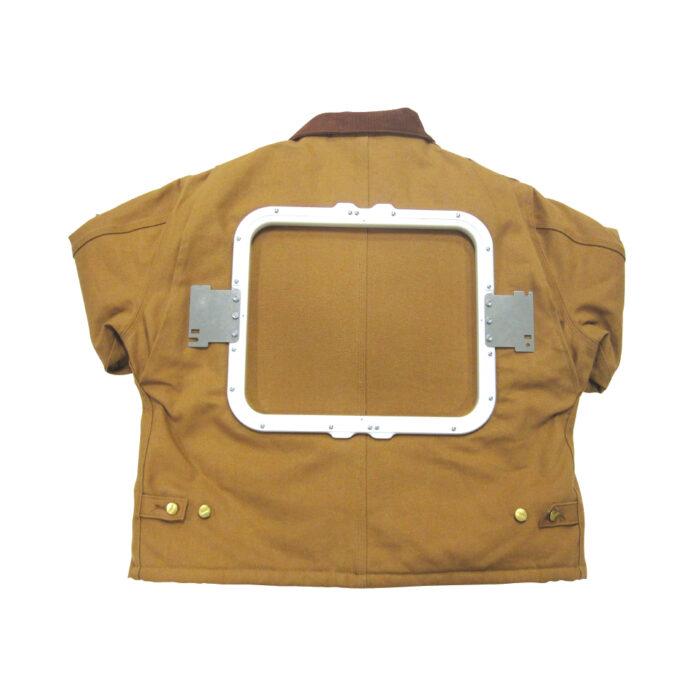 Melco Mighty Hoop Fixture 11x13 on jacket
