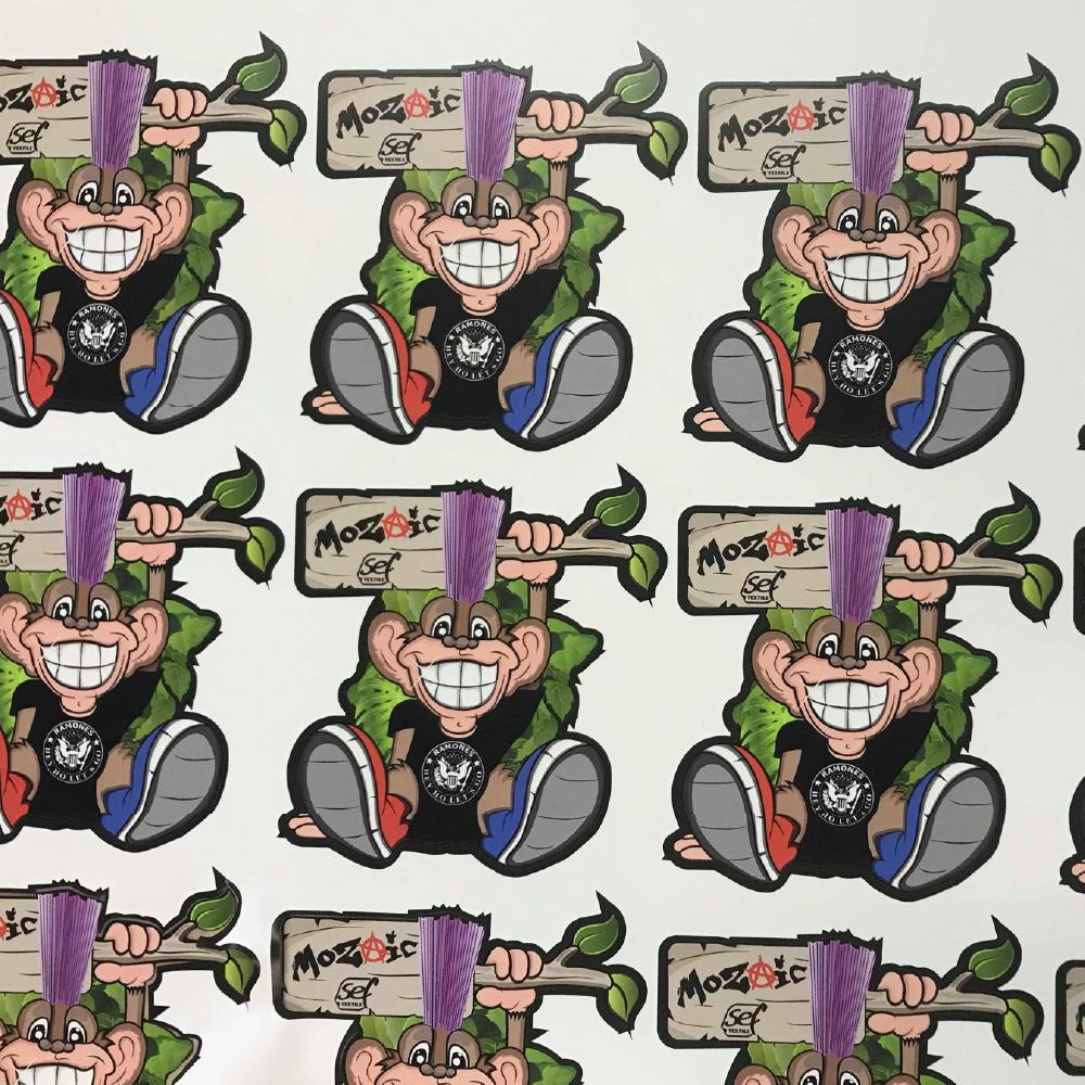 Monkey Logo made with Sef Mozaic Vinyl