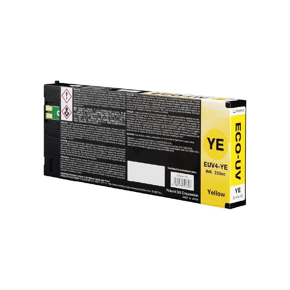 Roland ECO UV4 Yellow Ink Cartridge 220cc