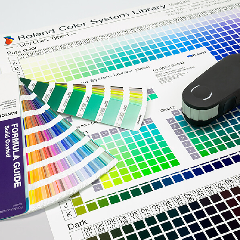 Roland Versa Works RIP Software Colour Library Chart