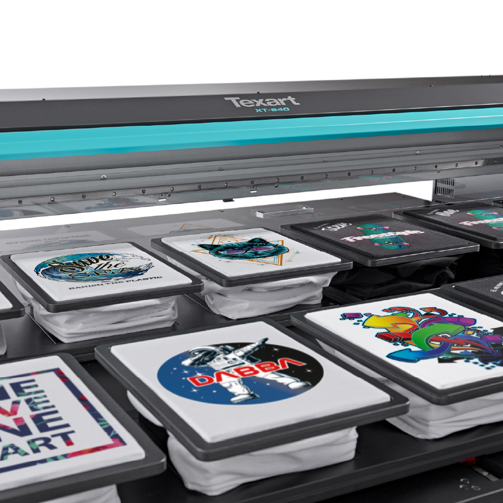 Roland XT-640S Direct to Garment Printer Platens and garments
