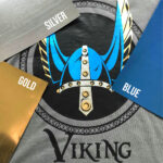Viking Shirt made with Sef Metalflex Silver Blue and Gold Vinyl