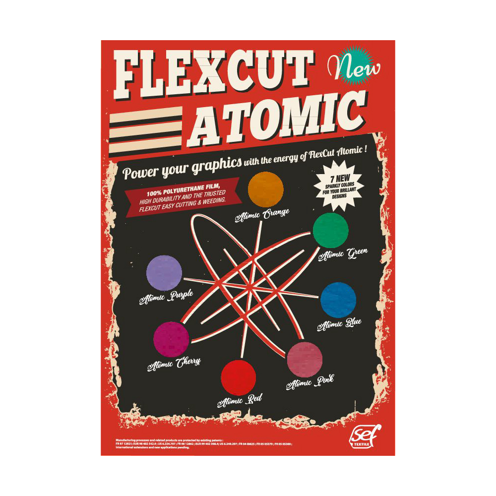 Sef Flexcut Atomic Heat Transfer Vinyl Poster