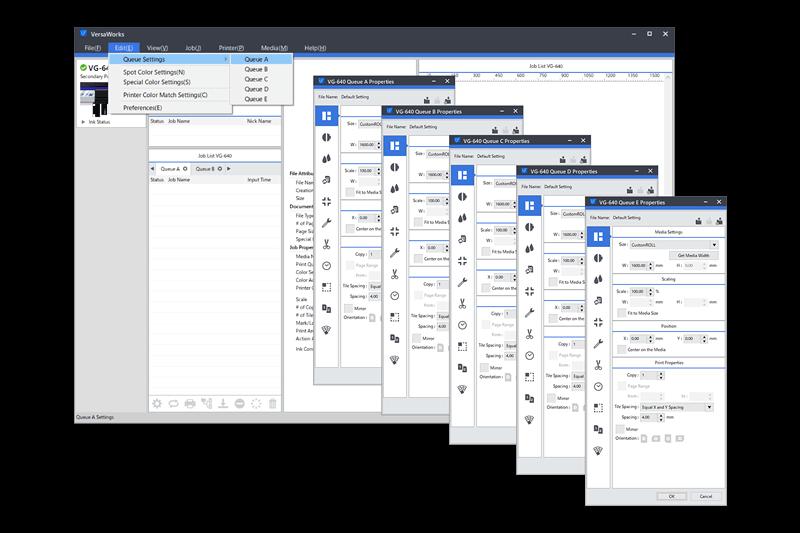 Roland Versa Works RIP Software Screenshot Digaram Print Queue
