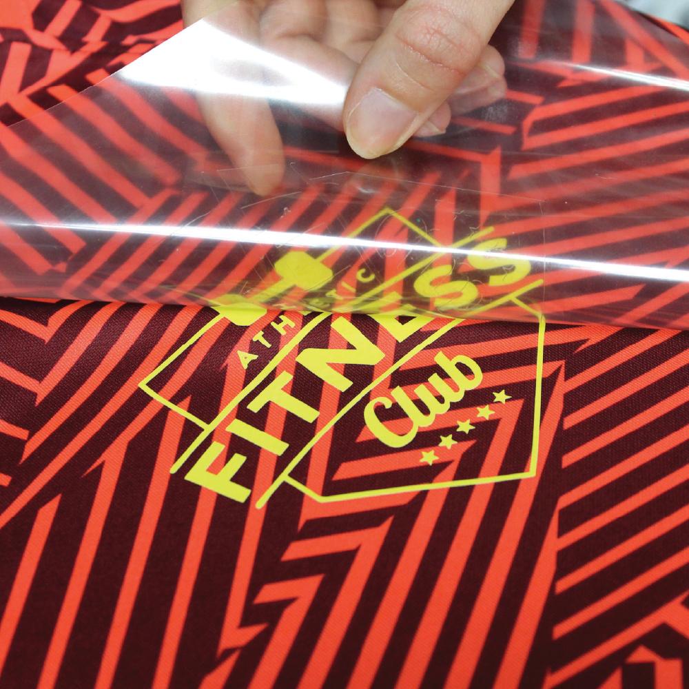 Sports logo being transferred onto shirt using SEF Subliblock
