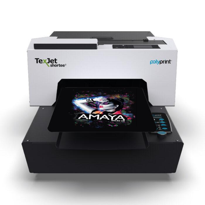 Texjet Polyprint Shortee2 Direct to Garment Printer with Amaya design