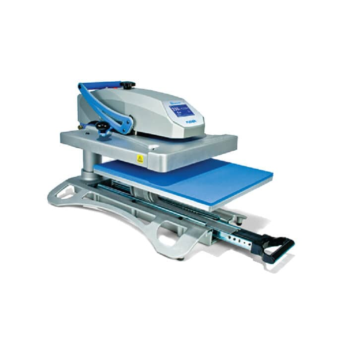 Stahls Hotronix Fusion IQ Heatpress with draw open
