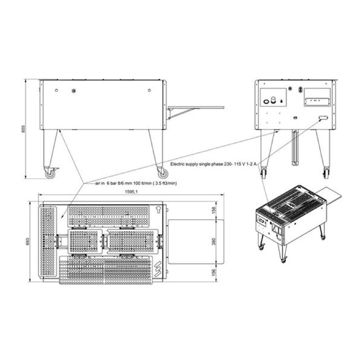 Chiossi e Cavazzuti Speedy T Folding Machine with garment