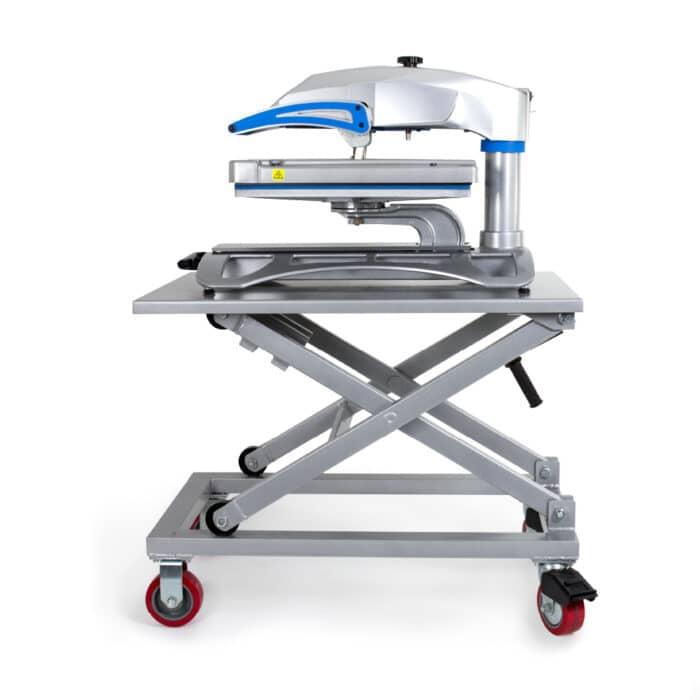 Heat Press Equipment Cart with Stahls Hotronix Fusion Heatpress