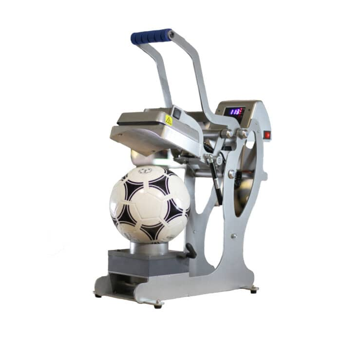 Stahls Hotronix Auto Open Sports Ball Press with football