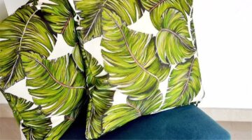 Palm Print Pillows for Kornikt Home Furnishing Applications