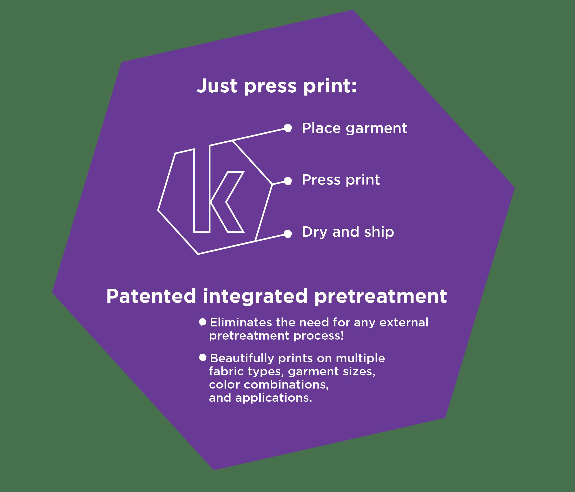 Kornit Purple Hexagon Graphic