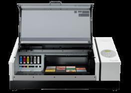 Roland VersaUV LEF2 Series UV Flat Bed Printer with lid open